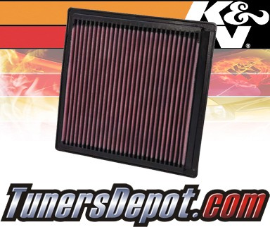 K&N® Drop in Air Filter Replacement - 04-09 Dodge Durango 4.7L V8