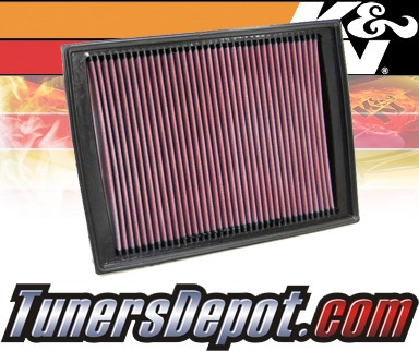 K&N® Drop in Air Filter Replacement - 04-09 Land Rover Discovery III 2.7L V6 Diesel