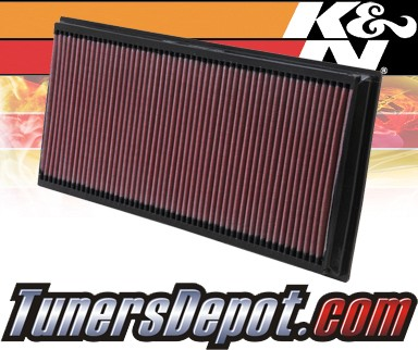 K&N® Drop in Air Filter Replacement - 04-10 Volkswagen VW Touareg Turbo 5.0L V10 Diesel