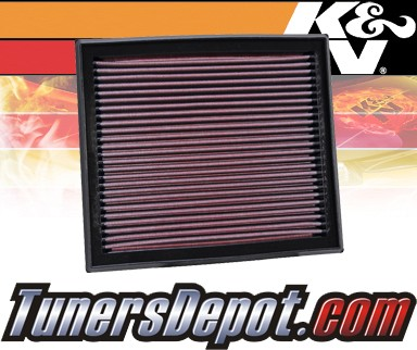 K&N® Drop in Air Filter Replacement - 04-10 Volvo V50 2.4L L5