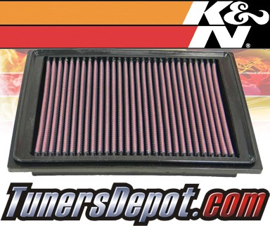 K&N® Drop in Air Filter Replacement - 05-07 Chevy Corvette 6.0L V8