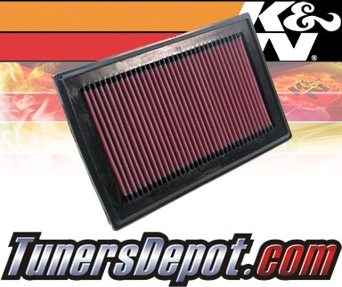 K&N® Drop in Air Filter Replacement - 05-07 Saab 9-2X 2.5L H4