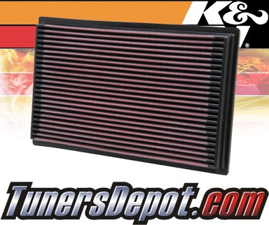 K&N® Drop in Air Filter Replacement - 05-10 Nissan Pathfinder 2.5L 4cyl Diesel