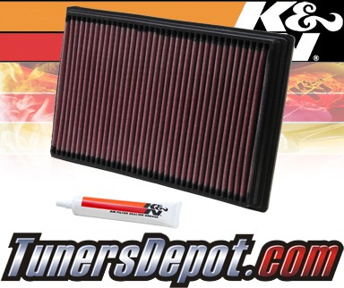 K&N® Drop in Air Filter Replacement - 06-07 Cadillac CTS CTS-V 6.0L V8
