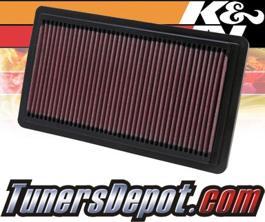 K&N® Drop in Air Filter Replacement - 06-07 Mazda Mazdaspeed6 2.3L 4cyl