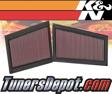 K&N® Drop in Air Filter Replacement - 06-07 Mercedes C280 W203 3.0L V6 Diesel