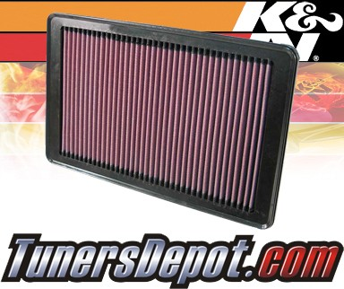 K&N® Drop in Air Filter Replacement - 06-07 Saturn Ion 2.4L 4cyl