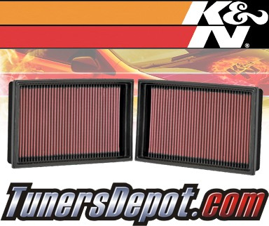 K&N® Drop in Air Filter Replacement - 06-08 BMW 750i E65 4.8L V8