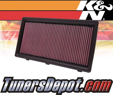 K&N® Drop in Air Filter Replacement - 06-10 Mitsubishi Raider 3.7L V6