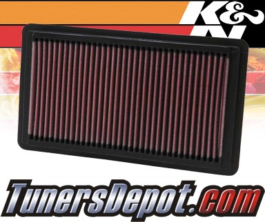 K&N® Drop in Air Filter Replacement - 06-11 Honda Civic Si 2.0L 4cyl
