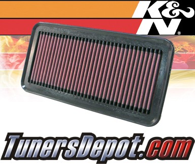 K&N® Drop in Air Filter Replacement - 06-11 Hyundai Accent 1.6L 4cyl