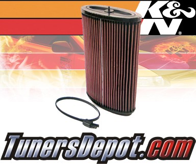 K&N® Drop in Air Filter Replacement - 06-12 Porsche Boxster 3.4L H6