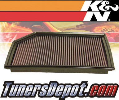 K&N® Drop in Air Filter Replacement - 07-07 Volvo XC90 2.5L L5