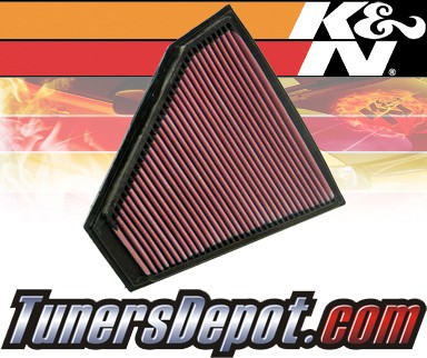 K&N® Drop in Air Filter Replacement - 07-08 BMW 328xi E90/E91/E92 3.0L L6
