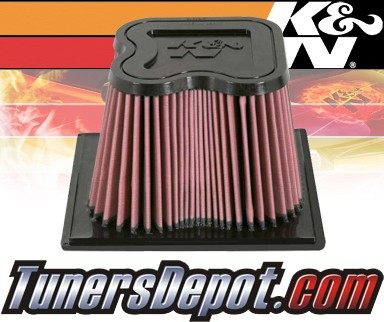 K&N® Drop in Air Filter Replacement - 07-09 Dodge Ram 2500 6.7L L6 Diesel