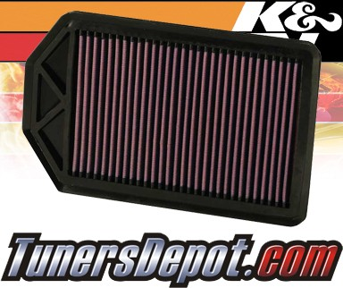 K&N® Drop in Air Filter Replacement - 07-09 Honda CRV CR-V 2.4L 4cyl
