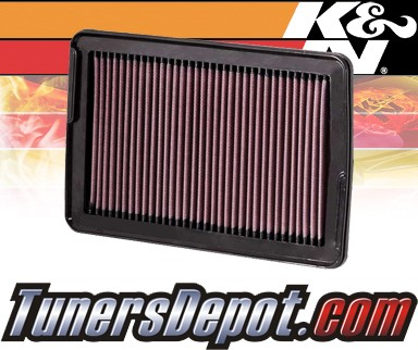 K&N® Drop in Air Filter Replacement - 07-09 Hyundai Santa Fe 2.7L V6
