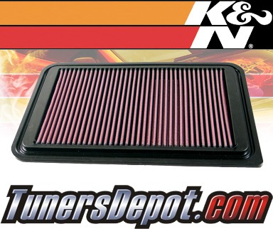 K&N® Drop in Air Filter Replacement - 07-12 Mazda 2 1.3L 4cyl