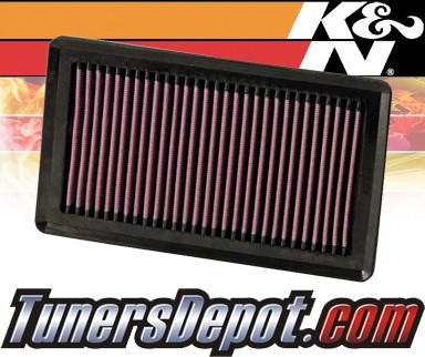 K&N® Drop in Air Filter Replacement - 07-12 Nissan Versa 1.8L 4cyl
