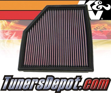 K&N® Drop in Air Filter Replacement - 08-08 BMW 528xi E60 3.0L L6