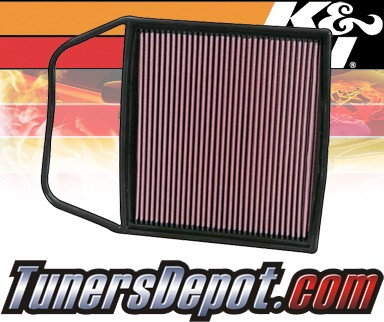 K&N® Drop in Air Filter Replacement - 08-08 BMW 535xi E60 3.0L L6