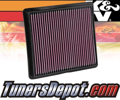 K&N® Drop in Air Filter Replacement - 08-08 Dodge Caravan 3.3L V6