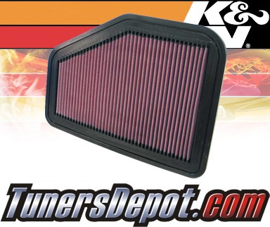 K&N® Drop in Air Filter Replacement - 08-09 Pontiac G8 6.0L V8