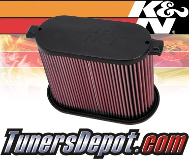 K&N® Drop in Air Filter Replacement - 08-10 Ford F350 F-350 6.4L V8 Diesel