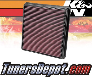 K&N® Drop in Air Filter Replacement - 08-11 Toyota Land Cruiser 5.7L V8