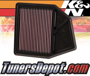 K&N® Drop in Air Filter Replacement - 08-12 Honda Accord 2.4L 4cyl