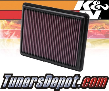 K&N® Drop in Air Filter Replacement - 08-12 Honda Accord 3.5L V6