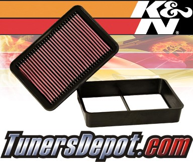 K&N® Drop in Air Filter Replacement - 08-12 Mitsubishi Lancer 1.8L 4cyl