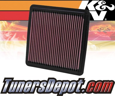 K&N® Drop in Air Filter Replacement - 08-12 Subaru Impreza WRX STI 2.5L H4