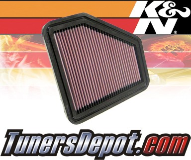 K&N® Drop in Air Filter Replacement - 09-10 Toyota Corolla 2.4L 4cyl