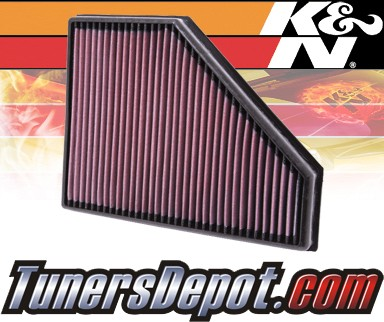 K&N® Drop in Air Filter Replacement - 09-11 BMW 335d E90 3.0L L6 Diesel
