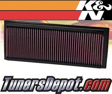 K&N® Drop in Air Filter Replacement - 09-12 Volkswagen VW Tiguan Turbo 2.0L 4cyl