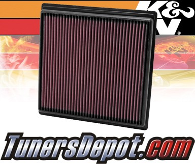 K&N® Drop in Air Filter Replacement - 10-11 Cadillac SRX 3.0L V6