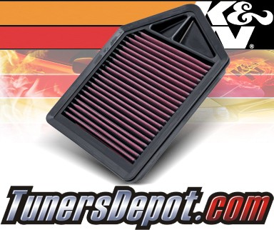K&N® Drop in Air Filter Replacement - 10-11 Honda CRV CR-V 2.4L 4cyl
