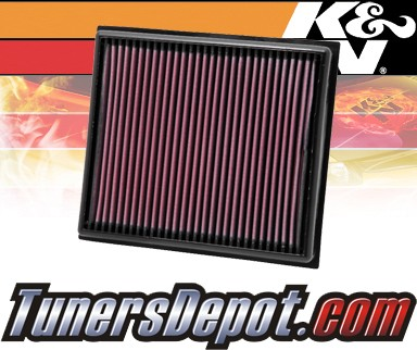 K&N® Drop in Air Filter Replacement - 10-11 Saab 9-5 2.0L 4cyl Diesel