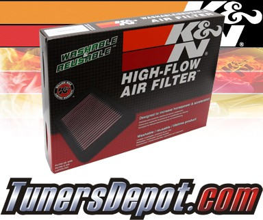 K&N® Drop in Air Filter Replacement - 10-11 Saab 9-5 2.8L V6