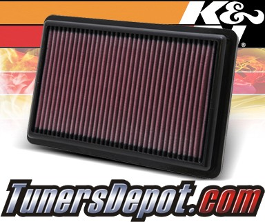 K&N® Drop in Air Filter Replacement - 10-12 Acura MDX 3.7L V6