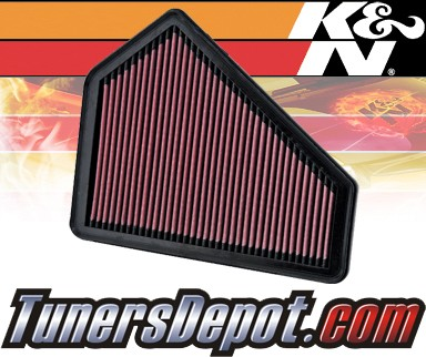 K&N® Drop in Air Filter Replacement - 10-12 Cadillac CTS 3.0L V6