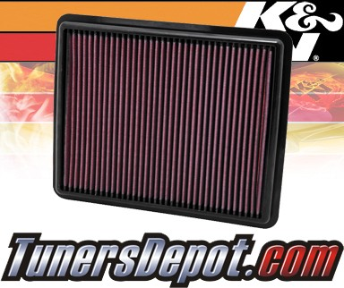 K&N® Drop in Air Filter Replacement - 10-12 Hyundai Santa Fe 2.4L 4cyl