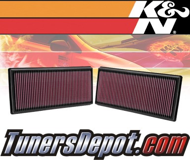 K&N® Drop in Air Filter Replacement - 10-12 Land Rover Range Rover III 4.4L V8 Diesel