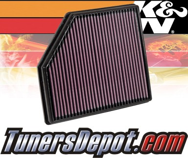 K&N® Drop in Air Filter Replacement - 10-12 Volvo XC70 3.0L L6