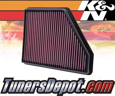 K&N® Drop in Air Filter Replacement - 10-13 Chevy Camaro 6.2L V8