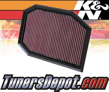 K&N® Drop in Air Filter Replacement - 11-11 BMW 528i F10 3.0L L6