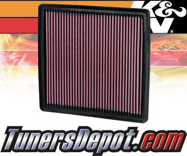 K&N® Drop in Air Filter Replacement - 11-11 Ford F550 F-550 6.2L V8