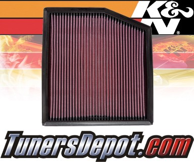 K&N® Drop in Air Filter Replacement - 11-12 BMW 335i E90/E93 3.0L L6