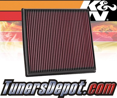 K&N® Drop in Air Filter Replacement - 11-12 BMW 740i F01/F02 3.0L L6